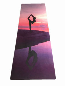 Printed Yoga Pilate Mat Wet Absorbent Anti Slip Folding Yoga Mat pictures & photos