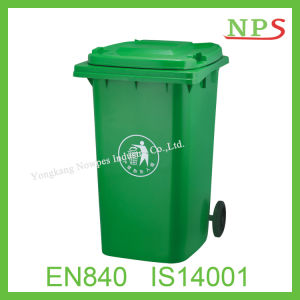 Eco-Friendly 120L/240L Plastic Waste Bin with Two Wheel pictures & photos