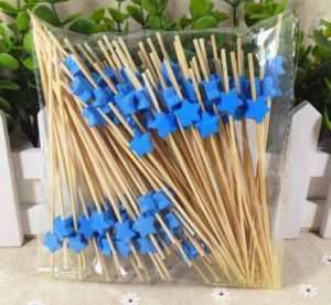 Eco Natural Bamboo Fruit Skewer/Stick/Pick (BC-BS1064) pictures & photos