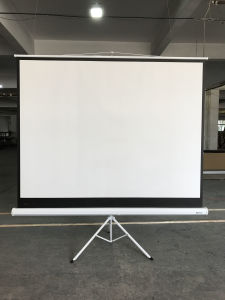 Hot Sale High-Quality Tripod Projection Screen, Foldable Projection Screen pictures & photos