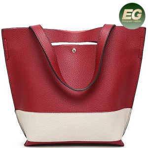 New Arrival Tote Designer Handbags Contrast Color Lady Bag with Long Strap Sy8435 pictures & photos