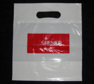 Die Cut Patch Handle Custom Plastic Merchandise Retail Bags pictures & photos
