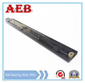 2017furniture Customized Cold Rolled Steel Three Knots Linear for Aeb4503-400mm Bottom Mounted Ball Bearing Drawer Slide pictures & photos