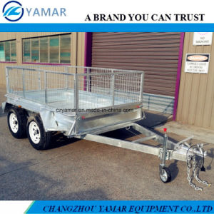 Tandem Axle Box Trailer with Cage pictures & photos