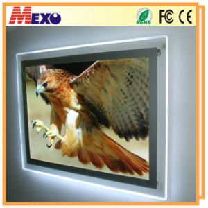 Double-Side Crystal LED Light Box with Magnet pictures & photos