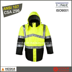 High Visibility Mens Parka Pass ANSI/Isea 107-2010 Class3 Safety Parka pictures & photos