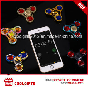 New Design Colorful Crystal Metal Fidget Spinner Hand Spinning Spinner pictures & photos