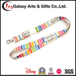 Promotion Polyester Material Dye Sublimation Printing Lanyard with Transparent Buckle pictures & photos