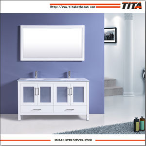 High Quality Ceramic Basin Bathroom Cabinet T9024-72W pictures & photos