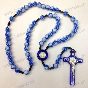 Yiwu Plastic Cross Religious Orhodox Prayer Bead Rosary, Knotted Rosary