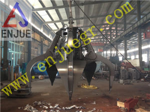 Motor Hydraulic Orange Peel Grab Bucket for Rock Steel Scrap on The Vessel pictures & photos