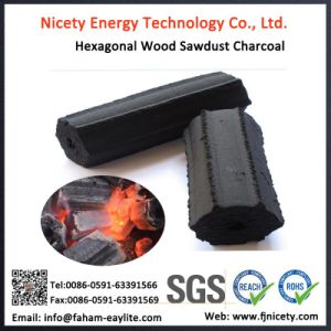 Hardwood Sawdust Hexagonal Charcoal for BBQ pictures & photos