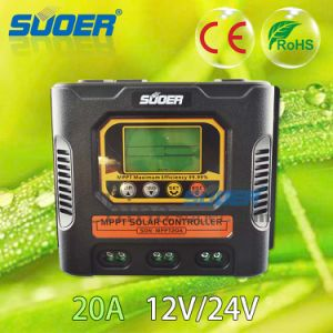Suoer New 12V 24V 20A MPPT Solar Charge Controller (SON-MPPT-20A) pictures & photos