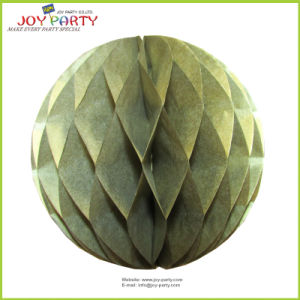 "8"" Gold Honeycomb Paper Ball Decoration Christmas Ornaments"