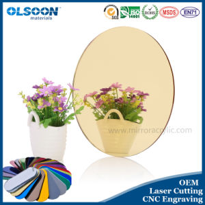Olsoon 0.8-6mm Thickness Customized Colors Light Acrylic Mirror Oval Mirror pictures & photos