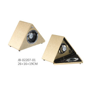 Triangle Gift Rotating Watch Box Auto Watch Winder pictures & photos