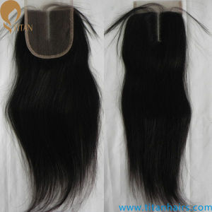 Indian Remy Human Hair Wavy Lace Closure