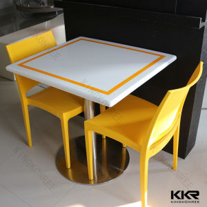 Seamless Joint Solid Surface Table Restaurant, Fast Food Table pictures & photos