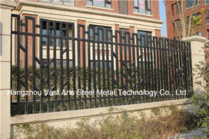 Haohan Customized Elegant High-Quality Residential Industrial Galvanized Steel Fence 79 pictures & photos
