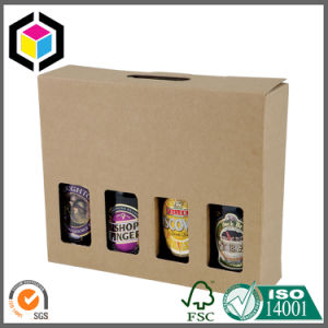 6 Pack Corrugated Cardboard Paper Wine Box with Carrier pictures & photos