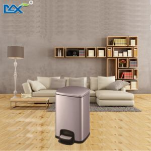 Square Anti-Fingerprint Soft Close Stainless Steel Foot Pedal Dustbin pictures & photos