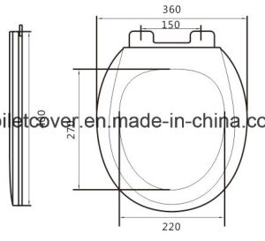 Round Toilet Seat with Slow Closed From Directly Xiamen Factory pictures & photos