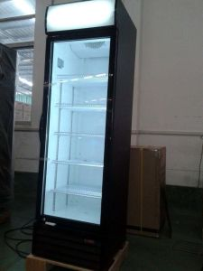 400liter One Transparents Door Vertical Cooler for Shop pictures & photos