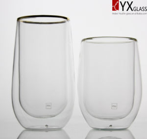 450ml Double Wall Glass Tea Cup/Double Wall Glass Coffee Cup/Double Wall Glass Thermos Cup/Double Wall Glass Cup pictures & photos