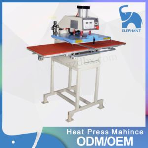 Semi Aumatic Large Size Double Working Stations Pneumatic Heat Press Machine for Clothing pictures & photos