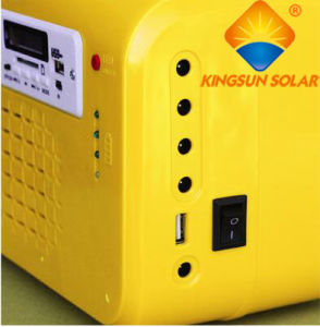 Portable 10W Solar Home Lighting System with FM and USB pictures & photos