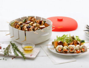 Plastic Material Platinum Silicone Brochette/BBQ Container/Box for Microwave pictures & photos