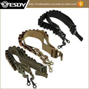 Three Colors New Tactical Airsoft Adjustable Gun Rifle Sling with Bullet Band pictures & photos