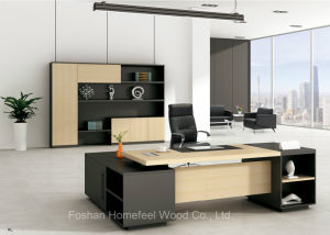 Wooden Melamine Office Furniture Manager Table Executive Desk (HF-FD008) pictures & photos