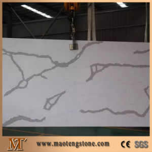 Calacatta Marble White Nuvo White Quartz Stone for Kitchen Worktops pictures & photos