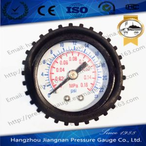 40mm 1.5′′ General Pressure Gauge with Black Rubber Case pictures & photos