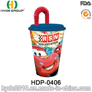 Promotional 400ml BPA Free Plastic Water Tumbler with Straw (HDP-0406) pictures & photos