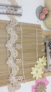 New 5.3cm Width Stock Butterfly Embroidery Water Soluable Trimming Lace for Girls′ Dresses & Garment Accessories & Beddings & Placemats pictures & photos