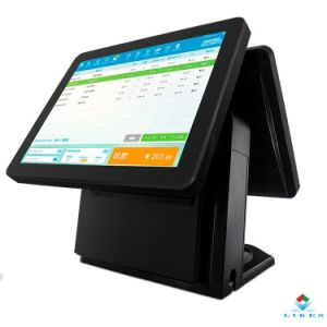 Capacitive Touch Screen POS System All in One Hardware with Dual Screen