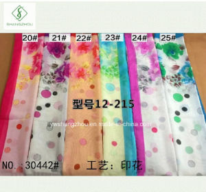 2017 New Chiffon Printed Lady Fashion Scarf Wholesale pictures & photos