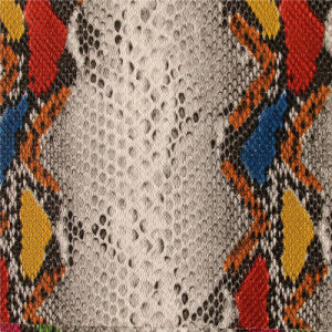 Snake Pattern PU Leather for Handbags (A959) pictures & photos