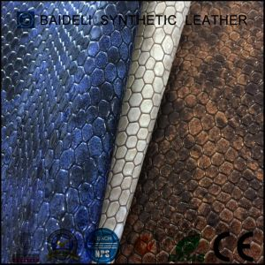 Shiny Surface PVC Vinyl Fabric for Bags/Shoes/Sofa and Furniture Decoration pictures & photos