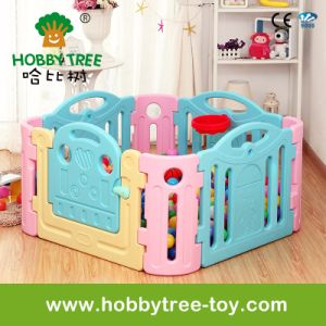 2017 Colorful Plastic Family Use Baby Playpen Hbs17044A pictures & photos
