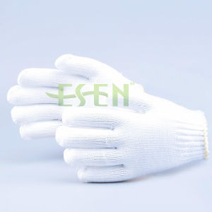 Knitted Polyester Work Man Gloves Safety Gloves pictures & photos