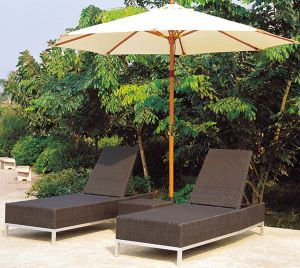 Modern Design Outdoor Rattan Furniture Sun Lounger pictures & photos