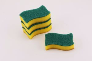Household Colorful Shaped Scouring Sponge pictures & photos