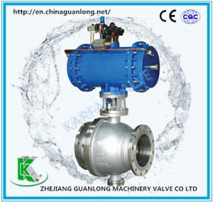 Metal Seat High Temperature Wearable 2 Way Ball Valve pictures & photos