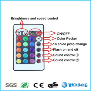 LED Music IR Remote Controller Sound Sensitive for RGB Light Strip pictures & photos