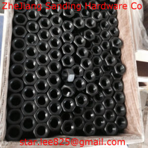 Gr8 Carbon Steel Black Oxide Hex Thick Nuts pictures & photos