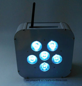 Stage Light 6*10W RGBW 4 in 1 LED Wireless Battery LED PAR pictures & photos