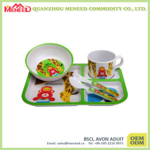 5PCS Melamine Kids Dinner Set pictures & photos